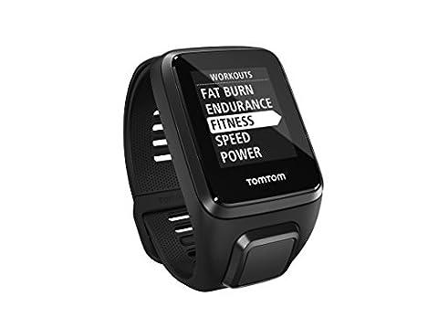 TomTom Spark 3 Music + Casque BT - Montre de Fitness GPS - Bracelet Large Noir (ref 1RLM.002.10)