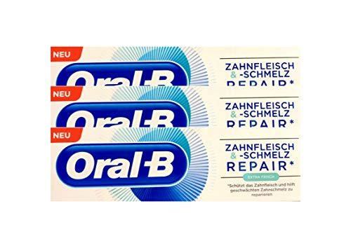 3x Oral-B Zahnfleisch und Zahnschmelz Repair extra frisch Zahnpasta 75 ml