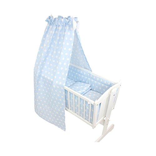 TupTam Unisex Baby Wiegen-Set 6-tlg., Farbe: Tupfen Blau, Anzahl der Teile:: 6 tlg. Set