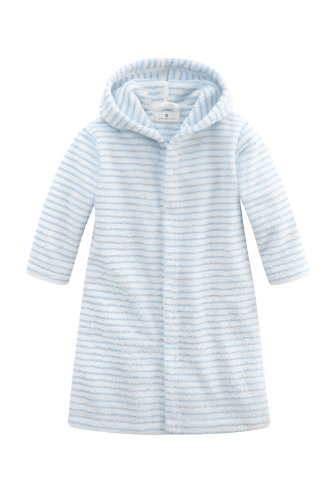 Bellybutton Kids Baby - Jungen Bademantel Bellybutton Kids Bademantel mit Knöpfen, 10871-90624, Gr. 80, Mehrfarbig (white/light blue striped)