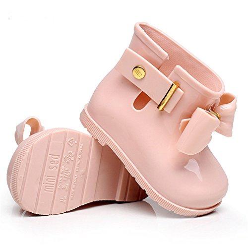 Kinder Gummistiefel Kurzer Regenstiefel Rutschfeste Wasserdicht Regen Stiefel Gartenschuhe Jungen Mädchen (27 EUR, Rosa) Regen Stiefel Lila Mädchen