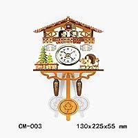Clock Cuckoo Cuckoo Wall Clock Creative Wooden European Living Room Vintage Wall Clock Medium Clock 004