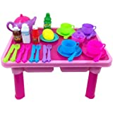 Childrens, Kids Toy Pretend Tea Set and Table over 29 pieces