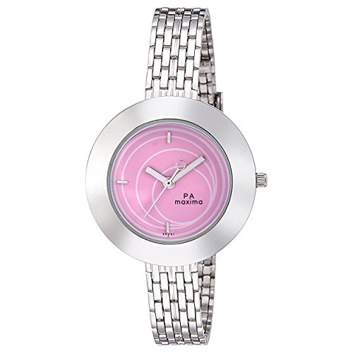 Maxima Analog Pink Dial Women's Watch - 39651CMLI