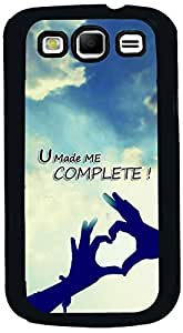 PrintVisa 2D-SGS3-D8042 Quotes Love Couple Case Cover for Samsung I9300 Galaxy S III (S3)