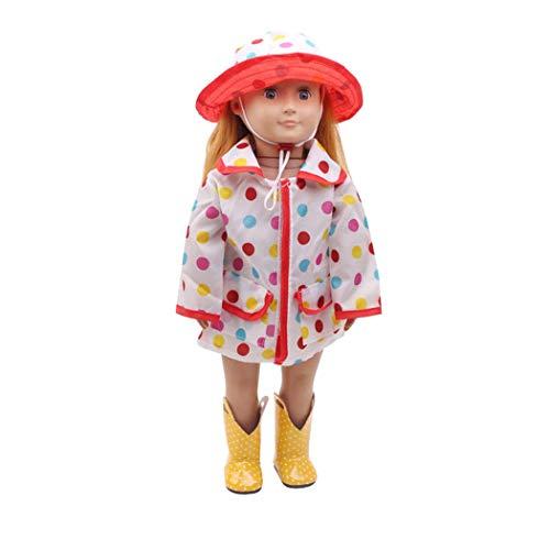 Zolimx Puppenbekleidung, Babypuppe Hut Regenmantel Kleidung Anzug für 18 Zoll American Puppe Zubehör Mädchen Spielzeug