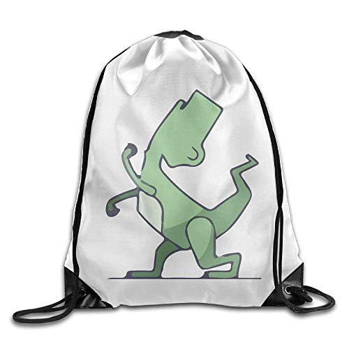 Louis Vuitton Duffle Bag (Funny Cartoon Dinosaur Fight Gym Drawstring Backpack Unisex Portable Sack Bag)