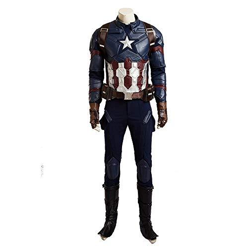 Avengers Kostüm Captain America Stiefel - Kostüm Verkleidung, Captain America 3 Cosplay Avengers Helden Full Set-L