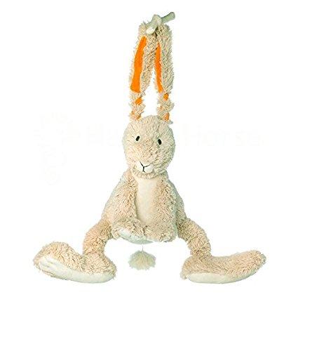 Happy Horse - Coniglietto musicale con cordino, 26 cm, colore: Beige