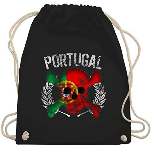 Fußball-Europameisterschaft 2020 - Portugal WM Totenkopf - Unisize - Schwarz - WM110 - Turnbeutel & Gym Bag