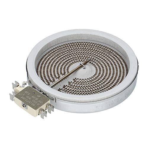 Radiador de 140 mm de diámetro, 1200 W, placa EGO 1054113034 para Bosch Siemens 289561