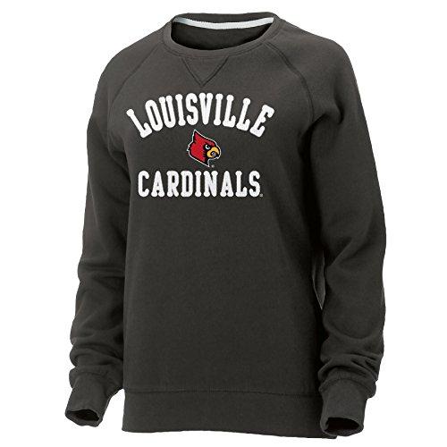 Ouray Sportswear NCAA Louisville Cardinals Damen Hot Shot Rundhalsausschnitt Sweatshirt, Damen, Graphit