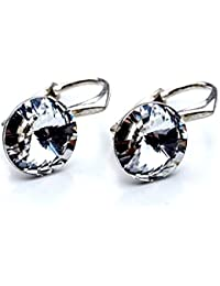 Crystals & Stones * Rivoli * 8mm * Crystal * Pendientes–Pendientes con Cristales de Swarovski Elements, ideal como regalo para mujeres o novia pin/75