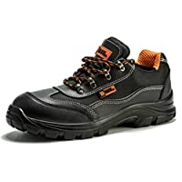 Black Hammer Mens Safety Boots Steel Toe Cap Shoes Work Ankle Trainers Hiker Midsole Protection S1P SRC Wide 8821