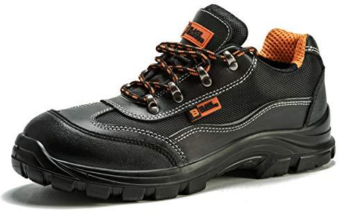Black Hammer Chaussure de Sécurité S1P SRC Hommes Baskets Embout Acier Respirant Chaussures de Chaussures de Travail et randonnée 8821 (44 EU)