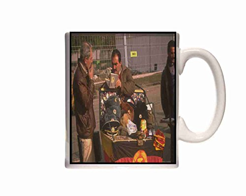 Mug Berlin Germany 292016 Stall Selling Ex Russian Army Hats Ceramic