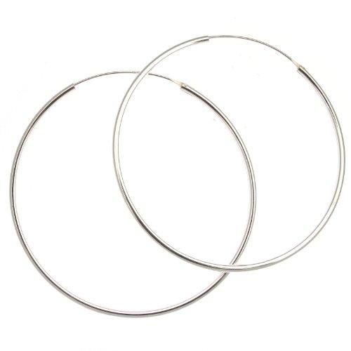 Touch Jewellery Sterling Silber 925 65mm Schlichte Creolen ()