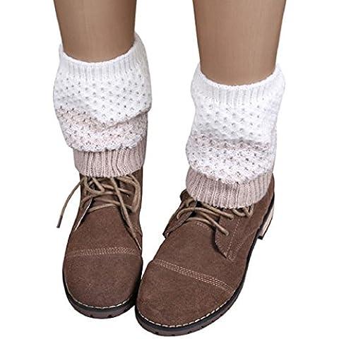 Malloom® Jacquard maglia Scaldamuscoli calzini Copristivali