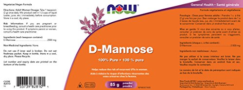 D-Mannose Powder, 3 oz (85 g) – Now Foods (Packaging May Vary)