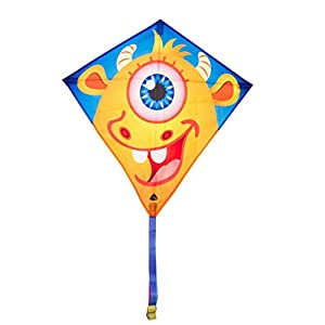 Invento 100122-Eddy Frank Monster, niños Dragón einleiner, a partir de 5años, 68x 68cm y 2m Dragón Cola Ripstop de poliéster 2-5Beaufort