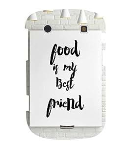 Food Quote 3D Hard Polycarbonate Designer Back Case Cover for BlackBerry Bold Touch 9900 :: BlackBerry Dakota :: BlackBerry Magnum