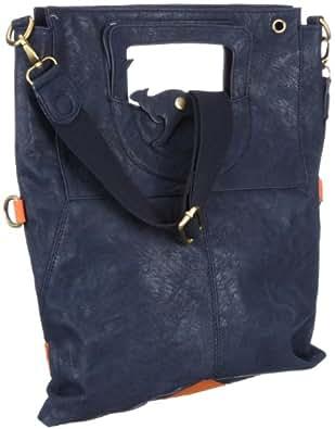 KangaROOS JEAN cliffhanger bag (set) B0171, Borsa donna - Blu/Petrolio, 40x32x3 cm (L x A x P)