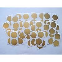 41 mm, bordo ondulato, oro opaco con motivo a etichette certificato di società, Adesivi per goffratura, Awards & Rewards - Goffratura Cera