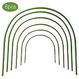 Firlar 6 Stück Gewächshaus-Reifen rostfrei Pflanztunnel Kunststoff beschichtet Tunnelreifen Stützreifen für Gartenpfähle Stoff, Pflanzenunterstützung Gartenpfähle