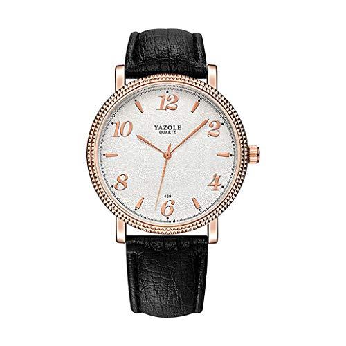 TTLOVE Unisex Mode Classic Uhren Business Quarz Uhr mit Leder Armband