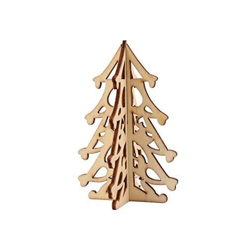 Doubleer decorazioni e ornamenti dell'albero di natale legno tridimensionale appeso all'albero alberi ecologici di natale
