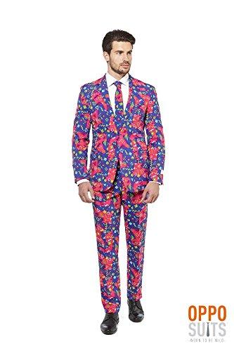 Opposuit Fresh Prince Knalliger 80er 90er Anzug Slimline Premium 3-teilig Gr. 62