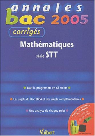 Mathématiques série STT : Corrigés