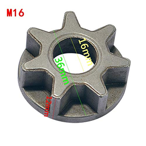 Best Quality - Tool Parts - m10/m14/m16 chainsaw gear for 100 115 125 150 180 replacement gear various angle grinder power tool chainsaw bracket woodworking - by Rocco - 1 PCs