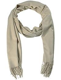 EOZY Casual Solid Color Soft Cashmere Winter Men Warm Tassels Shawl Scarf Beige