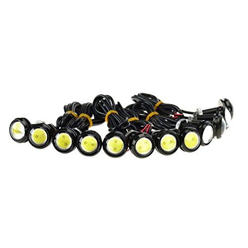 KAWELL Universale 12PCS Alta Potenza Bianco 9W LED Eagle Eye DRL nebbia luce di giorno del motociclo brillante Positions della coda di sostegno della luce auto della Marcatura luci