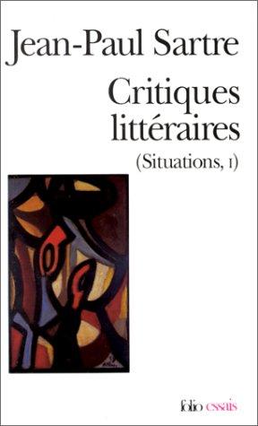 Critiques Litteraires: Situations 1 (Folio Essais)