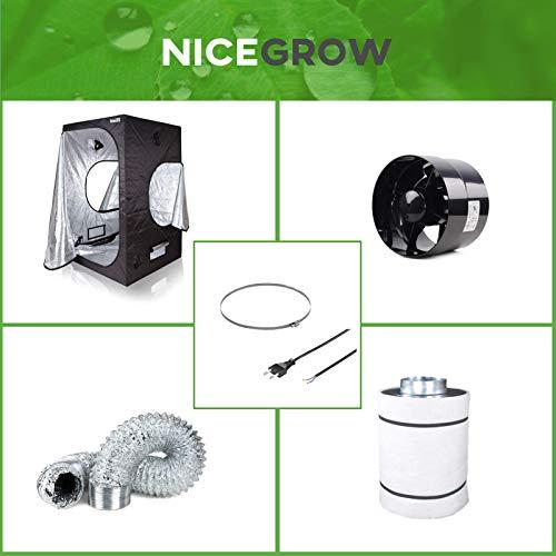 Growzelt Abluft-Set Black Orchid Axial Flo Turbo 358cbm/h Aktivkohlefilter Grow