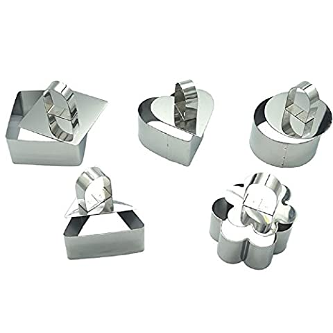 Hangnuo Stainless Steel DIY Small Mousse Ring Lamy Cheese Cake