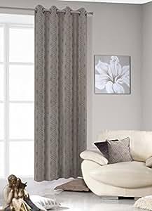 140x245 cm hellgraphit hellgrau schwarz Vorhang Vorhänge Blumenmotiv Ösenschal Fensterdekoration Gardine Blickdicht light grey graphite black 187