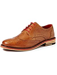 Symbol Amazon Brand Men's Leather Formal Brogue Shoes