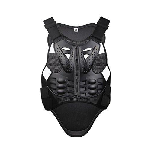 Dexinx Radfahren Skifahren Reiten Skateboard Brust Zurück Spine Protector Weste Anti-Fallen Motorrad Jacke Motocross Body Guard Weste Schwarz L