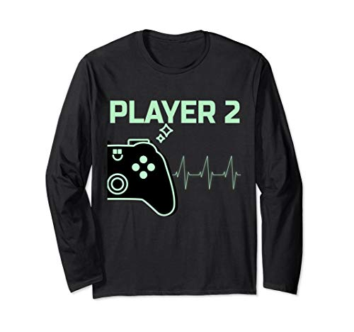 Kostüm Gaming Paar - Player 2 Langarmshirt