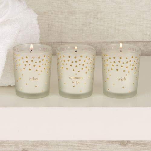3er-Set Kerzen für werdende Mütter, in einer Luxus-Geschenk-Box -