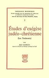 Etudes d'éxégèse judéo-chrétienne, Les testimonia