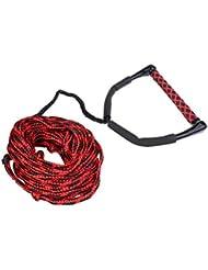 Gazechimp Wakeboard Cuerda de Esquí Acuático Alta Resistencia Accesorios de Deportes Correa - Rojo negro