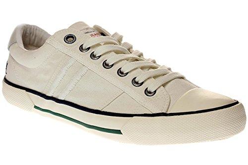 Pepe Jeans Serthi Washed - Zapatillas Bajas Hombre Blanco 45 (Baja Denim)