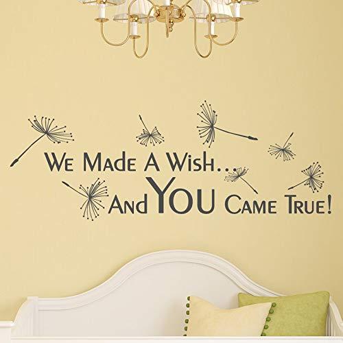 Preisvergleich Produktbild We Made A Wish And You Came True Wall Decal