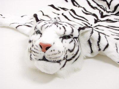 Huge white tiger rug 200x120cm - BRUBAKER Design
