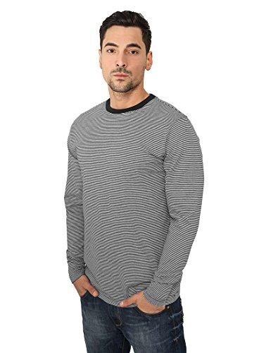 Urban Classics Striped Longsleeve T-Shirt schwarz-weiß black-white