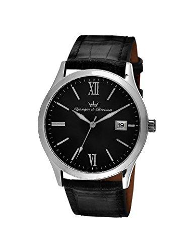 Reloj Yonger & Bresson hombre soleillé negro–HCC 045/AA–Idea regalo Noel